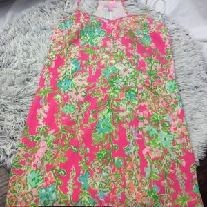 Lilly Pulitzer bright pink green floral print